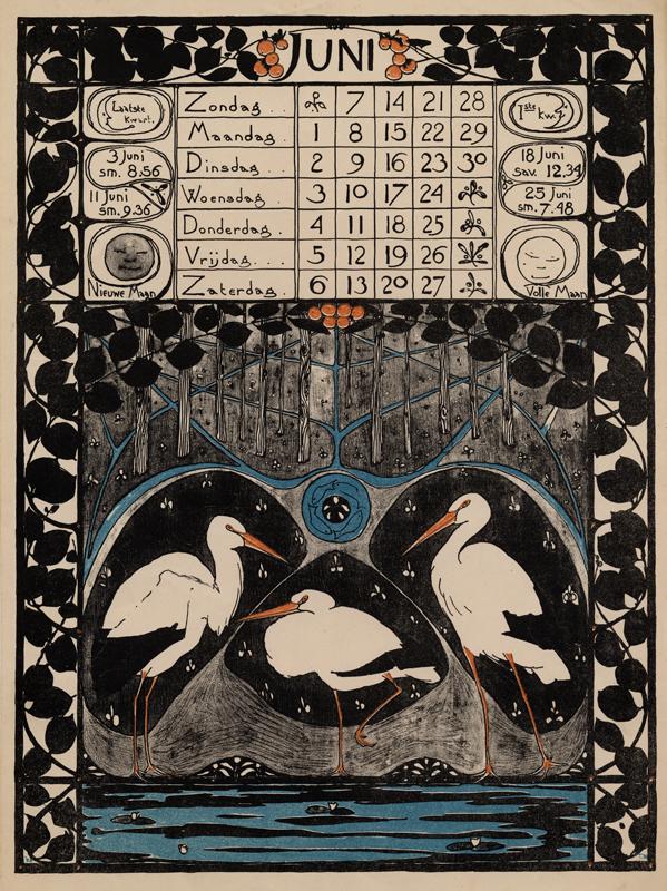 Un calendario Art Nouveau