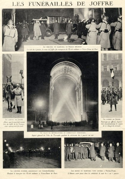XB1993.198_Funeral cortege of Marechal Joffre passing the Arc of Triump in 1931