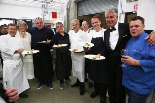 Boulud, Stewart, McMillan, Morin, Ripert, Carmellini, Bourdain, & Payard