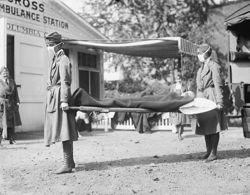 1918_flu_outbreak_RedCrossLitterCarriersSpanishFluWashingtonDC