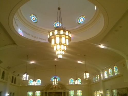 Dome and chandeliers