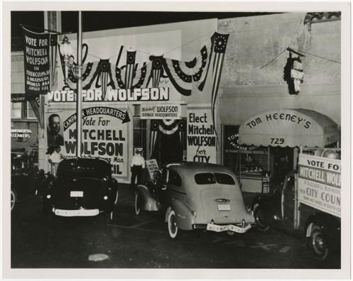 Mitchell Wolfson, Sr. campaign ca. 1943